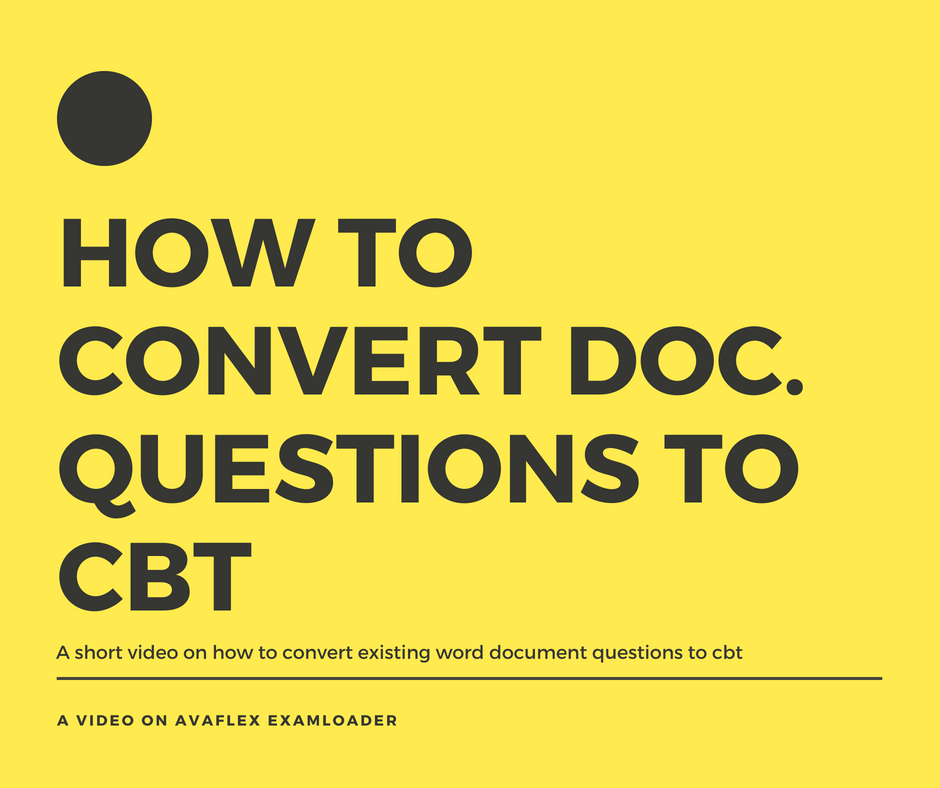 How to Convert word document to CBT